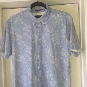 21 Men Hawaiian print button down shirt